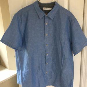 Blue Nautica  short sleeve shirt.
